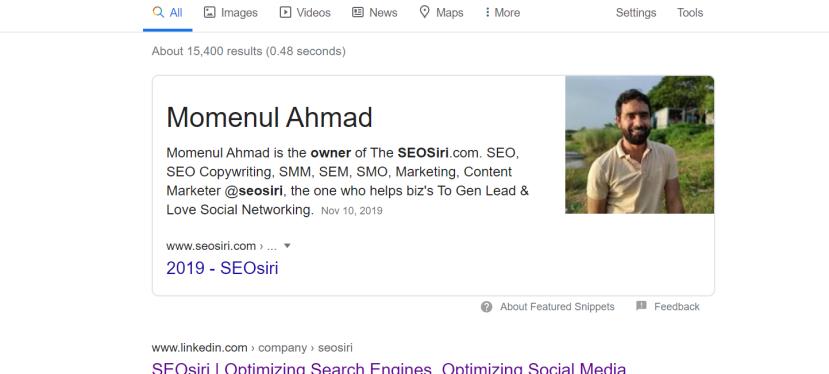 SEO Consultant Momenul Ahmad Joins Serena Prince-375Media.